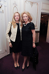 Left to right, ANTOINETTE SCHWARZ and her mother LADY WOLFSON OF MARYLEBONE at the Yota launch of Mikhailovsky Ballet's Swan Lake held at the London Coliseum, St.Martin's Lane, London on 13th July 2010.