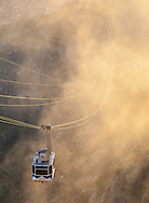 Sandia Peak Aerial Tramway, September, fog, late afternoon, Albuquerque, New Mexico,