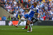 Bristol Rovers Matt Taylor during the Vanarama Conference Final between Bristol Rovers FC and Grimsby Town FC at Wembley Stadium, London, England on 17 May 2015. Photo by Shane Healey.