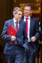 © Licensed to London News Pictures. 04/09/2018. London, UK. Defence Secretary Gavin Williamson and Attorney General Jeremy Wright QC leave Downing Street after attending a Cabinet meeting this morning. Photo credit : Tom Nicholson/LNP