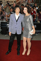 Ronnie Wood; Sally Humphreys, GQ Men of the Year Awards, Royal Opera House, London UK, 03 September 2013, (Photo by Richard Goldschmidt)