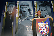28 August 2006: New York Red Bulls player Chris Henderson presented Philip Anschutz (not pictured) for induction. The National Soccer Hall of Fame Induction Ceremony was held at the National Soccer Hall of Fame in Oneonta, New York.