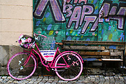 Bicycle, Graffiti and street art in Plovdiv, Bulgaria