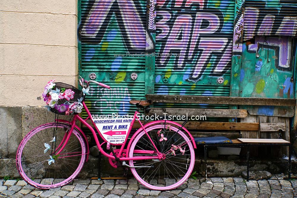Bicycle, Graffiti and street art in Plovdiv, Bulgaria