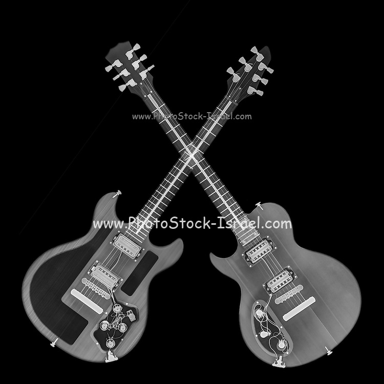 Electric Guitar under x-ray