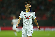 Son Heung-Min of Tottenham Hotspur looking on. UEFA Champions league match, group E, Tottenham Hotspur v CSKA Moscow at Wembley Stadium in London on Wednesday 7th December 2016.<br /> pic by John Patrick Fletcher, Andrew Orchard sports photography.