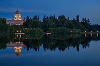 Washington State Capitol on Capitol Lake