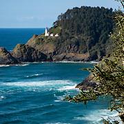 Heceta Head lighthouse fromCape Creek . Florence, Oregon