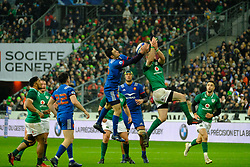 February 3, 2018 - Saint Denis, Seine Saint Denis, France - The Flanker of French Team WENCESLAS LAURET in action during the NatWest Six Nations Rugby tournament between France and Ireland at the Stade de France - St Denis - France..Ireland Won 15-13 (Credit Image: © Pierre Stevenin via ZUMA Wire)