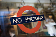 No smoking sign at the London Transport Museum in London, England, United Kingdom. The London Transport Museum, or LT Museum based in Covent Garden, seeks to conserve and explain the transport heritage of Britains capital city. The majority of the museums exhibits originated in the collection of London Transport, but, since the creation of Transport for London, TfL, in 2000, the remit of the museum has expanded to cover all aspects of transportation in the city.