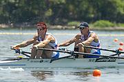 2005, World Rowing Championships, Nagaragawa International Regatta Course, Gifu, JAPAN: Monday  29.08.2005. SLO M2X Bow - Luka Spik and Iztok Cop.  © Peter Spurrier/Intersport Images - email images@intersport-images.com