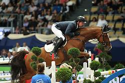 Hassmann Felix, (GER), Horse Gym's Balzaci<br /> DKB-Riders Tour<br /> Grand Prix Kreditbank Jumping München 2015<br /> © Hippo Foto - Stefan Lafrentz