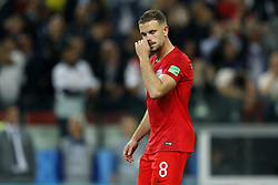 (l-r) Jordan Henderson of England during the 2018 FIFA World Cup Russia round of 16 match between Columbia and England at the Spartak stadium  on July 03, 2018 in Moscow, Russia