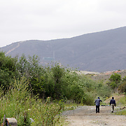 SAN DIEGO, CA, MAY 4, 2007:  Migrants who work the nearby fields or wait for work at day labor sites often use McGonigle Canyon in San Diego county as home. They construct living quarters out of branches, leaves and mud in the middle of a canyon lined with modern homes. (Photo by Todd Bigelow/Aurora) Please contact Todd Bigelow directly with your licensing requests.