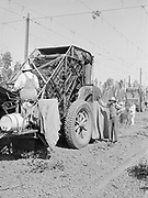 5583Close-up of the hop picking machine at the E. Clemens Horst hop ranch near Independence, Oregon. September 1, 1942.