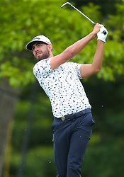 May 19, 2019 - Farmingdale, NY, U.S. - FARMINGDALE, NY - MAY 19: Erik Van Rooyen of South Africa takes a tee shot on 14 during the Final Round of the 2019 PGA Championship, on the Black Course, Bethpage State Park, in Farmingdale, NY. (Photo by Joshua Sarner/Icon Sportswire) (Credit Image: © Joshua Sarner/Icon SMI via ZUMA Press)