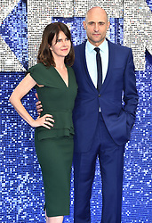 Liza Marshall (left) and Mark Strong attending the Rocketman UK Premiere, at the Odeon Luxe, Leicester Square, London.