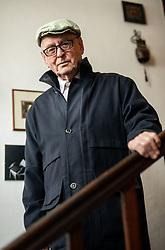 Portrait of Janko Kos, Slovene writer; Janko Kos, slovenski knjizevni teoretik, literarni komparativist, zgodovinar in kritik, on March 11, 2021 in Ljubljana, Slovenia. Photo by Vid Ponikvar / Sportida