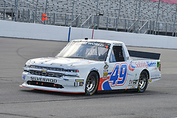 June 22, 2018 - Madison, Illinois, U.S. - MADISON, IL - JUNE 22:  Wendell Chavous (49) driving a Chevrolet for Sobriety Nation.org warms up before the Camping World Truck Series - Eaton 200 on June 22, 2018, at Gateway Motorsports Park, Madison, IL.   (Photo by Keith Gillett/Icon Sportswire) (Credit Image: © Keith Gillett/Icon SMI via ZUMA Press)