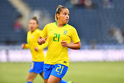 February 27, 2019 - Chester, PA, U.S. - CHESTER, PA - FEBRUARY 27: Brazil Defender Monica (21) looks on in the first half during the She Believes Cup game between Brazil and England on February 27, 2019 at Talen Energy Stadium in Chester, PA. (Photo by Kyle Ross/Icon Sportswire) (Credit Image: © Kyle Ross/Icon SMI via ZUMA Press)