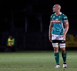 Benetton Treviso's Marco Lazzaroni<br /> <br /> Photographer Simon King/Replay Images<br /> <br /> Guinness PRO14 Round 1 - Dragons v Benetton Treviso - Saturday 1st September 2018 - Rodney Parade - Newport<br /> <br /> World Copyright © Replay Images . All rights reserved. info@replayimages.co.uk - http://replayimages.co.uk
