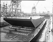 "Ackroyd 14303-7 ""Schnitzer Industires Inc. launching piggy-back barge 'SSI Portland'. December 5, 1966"