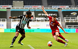 LIVERPOOL, ENGLAND - Sunday, July 26, 2020: Liverpool's Andy Robertson during the final match of the FA Premier League season between Newcastle United FC and Liverpool FC at St. James' Park. The game was played behind closed doors due to the UK government's social distancing laws during the Coronavirus COVID-19 Pandemic. Liverpool won 3-1 and finished the season as Champions on 99 points. (Pic by Propaganda)
