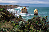 These beatiful limestone rock formations along the Great Ocean Road in Australia are known as the 12 Apostles and are simply magnificient in any weather.