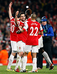 16.02.2011, Emirates Stadium, London, ENG, UEFA CL, FC Arsenal vs FC Barcelona, im Bild Arsenal's Cesc Fabregas (captain) Scenes of Celebration after final whistle  after Arsenal vs Barcelona for the UCL  ,Round of last 16, at the Emirates Stadium in London on 16/02/2011, EXPA Pictures © 2011, PhotoCredit: EXPA/ IPS/ Kieran Galvin +++++ ATTENTION - OUT OF ENGLAND/GBR and France/ FRA +++++
