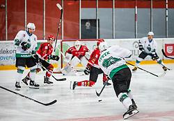 21# Ziga Svete of HK SZ Olimpija Ljubljana during ice hockey match between HK SIJ Acroni Jesenice and HK SZ Olimpija in Round #12 of Alps Hockey League 2018/19 , on October 27, 2018 in Podmezakla hall , Jesenice, Slovenia. Photo by Urban Meglic / Sportida
