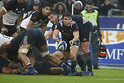 France's Antoine Dupont during a rugby friendly Test match, France vs New-Zealand in Stade de France, St-Denis, France, on November 11th, 2017. France New-Zealand won 38-18. Photo by Henri Szwarc/ABACAPRESS.COM