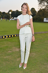 NATALIA VODIANOVA at the Chovgan Twilight Polo Gala in association with the PNN Group held at Ham Polo Club, Petersham Close, Richmond, Surrey on 10th September 2014.