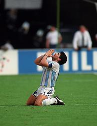July 1, 1990 - 900701 Fotboll, VM 1990: Diego Maradona, Argentina..© Bildbyran - VM90 (Credit Image: © Bildbyran via ZUMA Press)