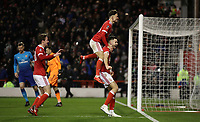 Football - 2017 / 2018 FA Cup - Third Round: Nottingham Forest vs. Arsenal<br /> <br /> Ben Brereton of Nottingham Forrest celebrates scoring a penalty  at the City Ground.<br /> <br /> COLORSPORT/LYNNE CAMERON
