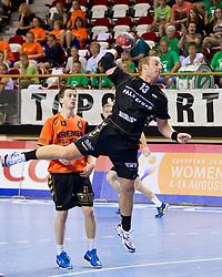 02-06-2011 HANDBAL: BEKERFINALE HURRY UP - O EN E: ALMERE<br /> (L-R) Nick Masmeijer, Leon van Schie<br /> ©2011-FotoHoogendoorn.nl / Peter Schalk