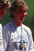 Lucerne, SWITZERLAND.  [RDA] DDR W4+ Gerlind DOBERSCHUTZ 1988  Lucerne International Regatta, Lake Rotsee. June 1988 [Mandatory Credit - Peter Spurrier/Intersport Images] 1988 Lucerne International Regatta