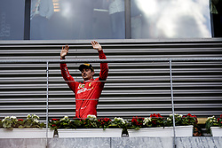 September 1, 2019, Francorchamps, Belgium: CHARLES LECLERC of Scuderia Ferrari on the podium after the Formula 1 Belgian Grand Prix at Circuit de Spa-Francorchamps in Francorchamps, Belgium. (Credit Image: © James Gasperotti/ZUMA Wire)