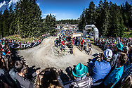 Kate Courtney (USA) during the Cross Country Olympics event at the 2018 UCI MTB World Championships - Lenzerheide, Switzerland