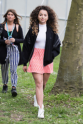 © Licensed to London News Pictures .06/06/2015. Manchester , UK. ELLA EYRE backstage at The Parklife 2015 music festival in Heaton Park , Manchester . Photo credit : Joel Goodman/LNP