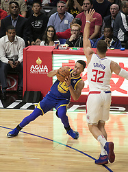 October 30, 2017 - Los Angeles, California, U.S - Stephen Curry #30 of the Golden State Warriors during their NBA game with the Los Angeles Clippers on Monday October 30, 2017 at the Staples Center in Los Angeles, California. Clippers v Warriors. Clippers lose to Warriors, 141-113. (Credit Image: © Prensa Internacional via ZUMA Wire)