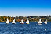 Small vessal sailing lessons, Castine, Maine, ME, USA