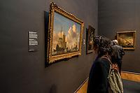 Dutch Ships in a Calm Sea, Willem van de Velde II, ca 1665<br /> <br /> Le Rijksmuseum Amsterdam est un musee national consacre aux beaux-arts, a l'artisanat et a l'histoire du pays. Il est le plus important musée neerlandais en termes de frequentation et d'œuvres d'art avec plus de 2 450 000 visiteurs en 2014 pour un fond d'environ un million de pieces.<br /> Situe entre la Stadhouderskade et la Museumplein (la «Place des Musees»), dans l'arrondissement Amsterdam Oud-Zuid, il presente au public, a travers quelque deux cents salles d'expositions une vaste collection de peintures du siecle d'or neerlandais. <br /> C'est aussi au Rijksmuseum qu'est attache le Rijksprentenkabinet (le «Cabinet national des estampes»). Le musee possede en outre une riche collection d'objets d'art asiatiques.<br /> Le Rijksmuseum a ete fondee a La Haye en 1800 et a demenage à Amsterdam en 1808. Il était situe d'abord dans le palais royal et plus tard dans les Trippenhuis.<br /> Le batiment principal actuel a été conçu par Pierre Cuypers et a ouvert ses portes en 1885.<br /> Le 13 Avril 2013, apres une renovation de dix ans qui a coute 375 millions €, le batiment principal a ete rouvert par la reine Beatrix.<br /> <br /> The Rijksmuseum  (Imperial Museum) is a Dutch national museum dedicated to arts and history in Amsterdam. The museum is located at the Museum Square in the borough Amsterdam South, close to the Van Gogh Museum, the Stedelijk Museum Amsterdam, and the Concertgebouw.<br /> The Rijksmuseum was founded in The Hague in 1800 and moved to Amsterdam in 1808, where it was first located in the Royal Palace and later in the Trippenhuis. The current main building was designed by Pierre Cuypers and first opened its doors in 1885.On 13 April 2013, after a ten-year renovation which cost € 375 million, the main building was reopened by Queen Beatrix In 2013 and 2014, it was the most visited museum in the Netherlands with record numbers of 2.2 million and 2.45 million visitors. Is is also 