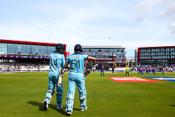 Jonny Bairstow of England and James Vince of England was out to open the batting against Afghanistan - Mandatory by-line: Robbie Stephenson/JMP - 18/06/2019 - CRICKET- Old Trafford - Manchester, England - England v Afghanistan - ICC Cricket World Cup 2019 group stage