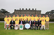 The Spanish Point team, winners of the AIG Pierce Purcell Shield in the AIG Cups & Shields at Carton House on Friday 19th September 2014.<br /> Picture:  Thos Caffrey / www.golffile.ie