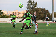 Forest Green Rovers Shamir Mullings(14) on the ball during the Pre-Season Friendly match between SC Farense and Forest Green Rovers at Estadio Municipal de Albufeira, Albufeira, Portugal on 25 July 2017. Photo by Shane Healey.