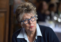 Prue Leith who has been tipped to replace Mary Berry as a judge on The Great British Bake Off, attends A Very Special Afternoon Tea, with nutritionist to the stars Jane Clarke and dementia sufferer Terry Jones, to launch Nourish website & community, helping people living with cancer and dementia through the power of good food, real nourishment and expert support at the Royal Hospital Chelsea.