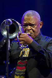 May 29, 2015 - Turin, Italy - South African jazz trumpeter Hugh Masekela in concert at Torino Jazz Festival. (Credit Image: © Marco Destefanis/Pacific Press/ZUMAPRESS.com)