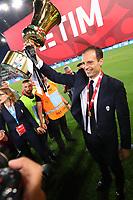 Celebrazione Coppa Juventus vince il trofeo, Celebration Cup Juventus Wins the trophy Massimiliano Allegri Juventus  <br /> Roma 17-05-2017 Stadio Olimpico.<br /> Football Calcio Finale Coppa Italia / Italy's Cup Final 2016/2017. Juventus - Lazio<br /> Foto Cesare Purini / Insidefoto
