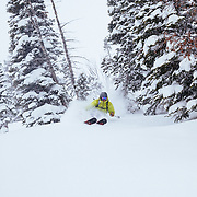 Forrest Jillson skis a monster late-season winter storm in the Tetons.