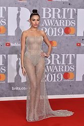 February 20, 2019 - London, United Kingdom of Great Britain and Northern Ireland - Madison Beer arriving at The BRIT Awards 2019 at The O2 Arena on February 20, 2019 in London, England  (Credit Image: © Famous/Ace Pictures via ZUMA Press)